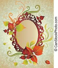 thanksgivi, leafs., cornice, autunno