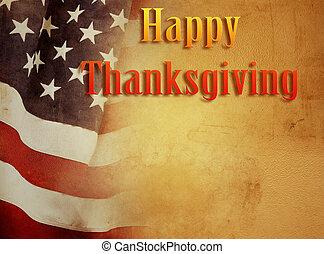 Thanksgiving American flag