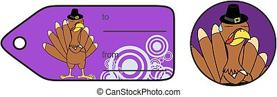 thanksgiving angry turkey cartoon giftcard - thanksgiving...