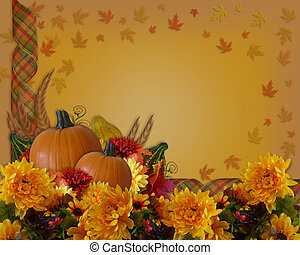 Thanksgiving Autumn Background Border