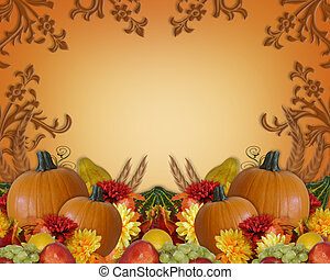 Thanksgiving Autumn Fall Background - Image and Illustration...