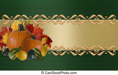 Thanksgiving Autumn Fall Border