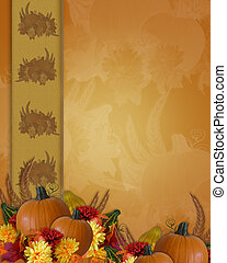 Thanksgiving Autumn Fall Border - Image and Illustration...