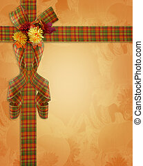 Thanksgiving Autumn Fall Border ribbons - Image and...