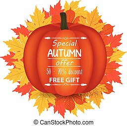 thanksgiving., autunno, felice, zucca