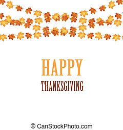 Thanksgiving background design with autumnal leaves.