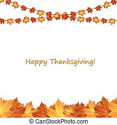 Thanksgiving background design with autumnal leaves