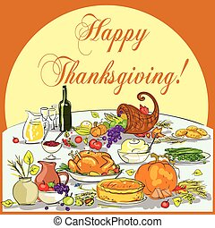 Thanksgiving background with space for text.