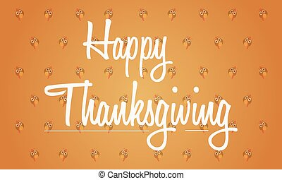 Thanksgiving background with turkey collection vector...
