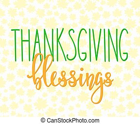 Thanksgiving Blessings lettering typography