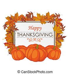 Thanksgiving Board Foliage Pumpkin