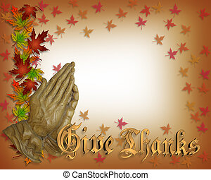 Thanksgiving card Praying hands