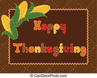 Thanksgiving card with ears of corn