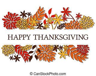 thanksgiving, carte, conception