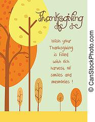 thanksgiving, carte