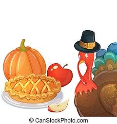 Thanksgiving cartoon illustration