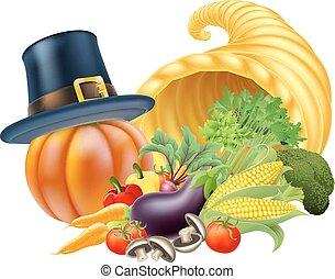 thanksgiving, corne abondance