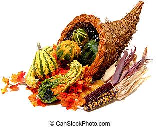 Thanksgiving Cornucopia - Harvest or Thanksgiving cornucopia...
