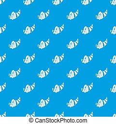 Thanksgiving cornucopia pattern seamless blue
