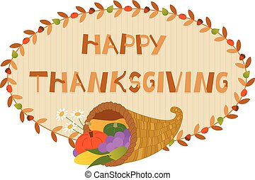 Thanksgiving Cornucopia Sign