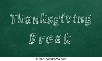 thanksgiving, coupure