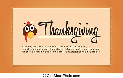 Thanksgiving cute background for greeting card
