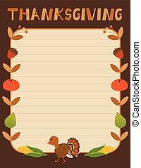 thanksgiving, décoratif, signe