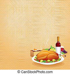 thanksgiving, dîner.