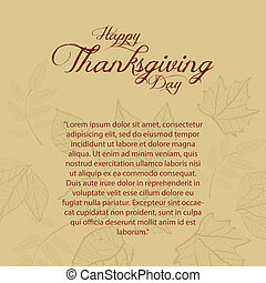 Thanksgiving day - abstract thanksgiving day background with...