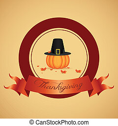 Thanksgiving day - abstract thanksgiving day label on...