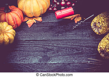 thanksgiving day and autumn season for party