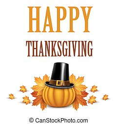 Thanksgiving Day card on white background.