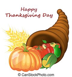 Thanksgiving Day Design - Thanksgiving day greeting card....