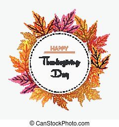 Thanksgiving Day - Vector illustration of Thanksgiving Day