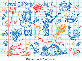 thanksgiving day funny doodles