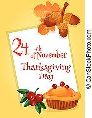 Thanksgiving Day greeting card design