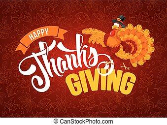 Thanksgiving day greeting - Thanksgiving greeting design...