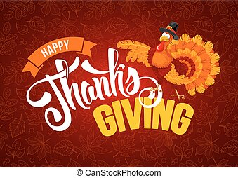 Thanksgiving day greeting - Thanksgiving greeting design...