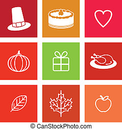 Thanksgiving Day Icons