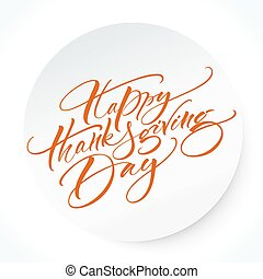 Thanksgiving Day Lettering