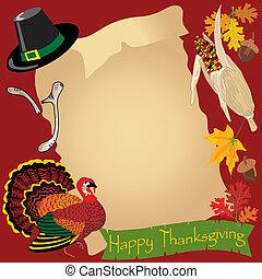 Thanksgiving day menu