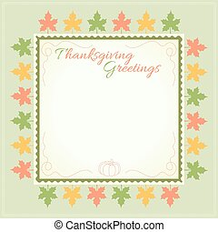 Thanksgiving day menu template