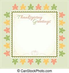 Thanksgiving day menu template
