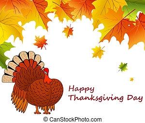 Thanksgiving day - Thanksgiving Day background with maple...