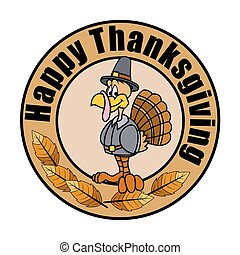 Thanksgiving Day Turkey Vector - Happy Turkey Thanksgiving...