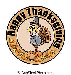 Thanksgiving Day Turkey Vector - Happy Turkey Thanksgiving...