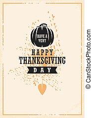 Retro invitation concept for Thanksgiving day