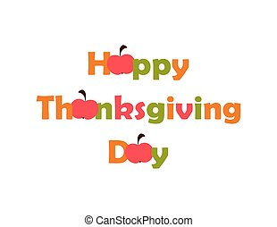 Thanksgiving Day. vector. flat