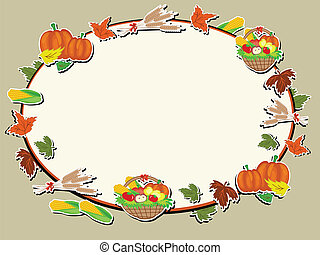Thanksgiving day, vector frame