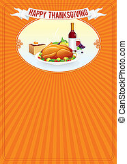 Thanksgiving Day. Vertical Background Template
